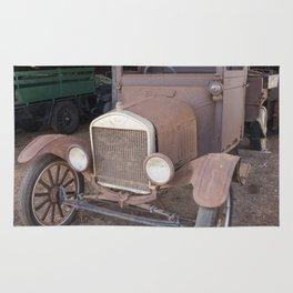 Ford car Antique Rug