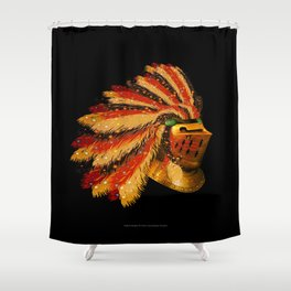 Indian Knight 129WP Shower Curtain