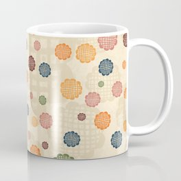 Scumbley Checkered Flowers Coffee Mug