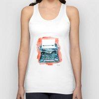 typewriter Tank Tops featuring Typewriter by Elena Sandovici