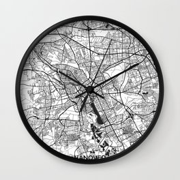 Hanover Map Gray Wall Clock