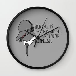 For Training Porpoises Wall Clock