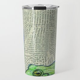 Bull Frog in a swamp of letters Travel Mug