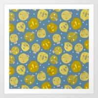 Pattern Project #47 / Skulls & Bulbs Art Print