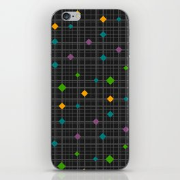 Networks with bright shapes iPhone Skin