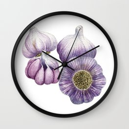 Spanish Rojo Garlic Wall Clock