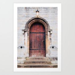 Though Closed Doors Art Print