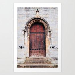 Though Closed Doors Art Print