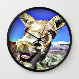 Laughing Jackass Wall Clock