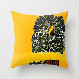 Red-tailed Black Cockatoo pair Throw Pillow