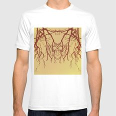 branches#07 Mens Fitted Tee White MEDIUM