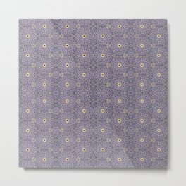 Purple Antique Whimsy Metal Print