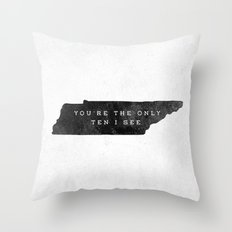 Ten I See Throw Pillow