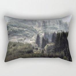Hidden House in Majestic Forest Rectangular Pillow