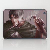 levi iPad Cases featuring Shingeki no Kyojin - Levi by Paleblood