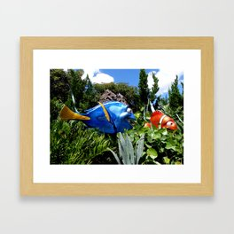 EPCOT: Marlin & Dory Framed Art Print