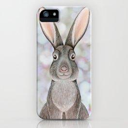 rabbit woodland animal portrait iPhone Case