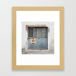 Muted Azul Door - Tala Mexico Framed Art Print