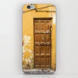 Yellow Door #47 Malaga iPhone Skin