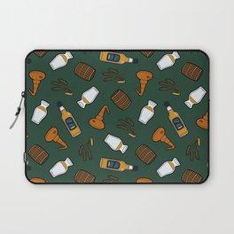 Whisky Pattern in Dark Green Laptop Sleeve