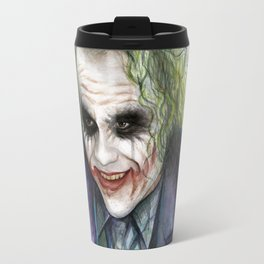 Joker Why So Serious Watercolor Travel Mug