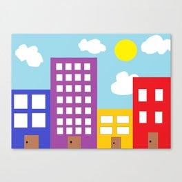 Microsoft Paint City Canvas Print