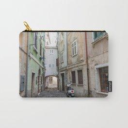 Piran Slovenia Narrow Town Street - Cute Europe Town Carry-All Pouch