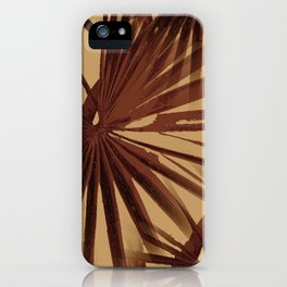 Burgundy and Coffee Tropical Beach Palm Vector iPhone Case