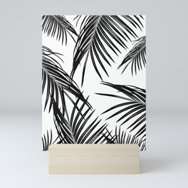 Black Palm Leaves Dream #1 #tropical #decor #art #society6 Mini Art Print