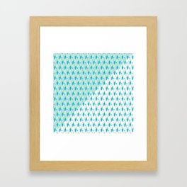 Artistic green teal hand painted bohemian arrows Framed Art Print