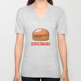 Burger lover Pattern Unisex V-Neck