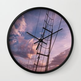 Charleston Sailboat XI Wall Clock