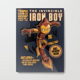 THE INVINCIBLE IRON BOY Metal Print