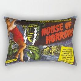 House of Horrors, vintage horror movie poster Rectangular Pillow