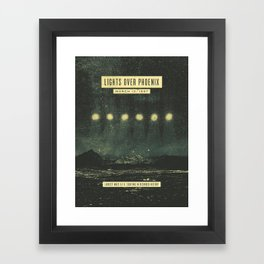 Lights Over Phoenix Framed Art Print