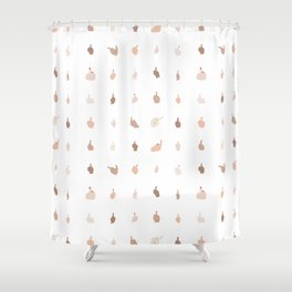 Middle Fingers With Colored Nails Shower Curtain