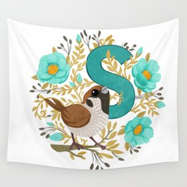 S is for Sparrow Wall Tapestry