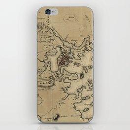 Vintage Boston Revolutionary War Map (1775) iPhone Skin