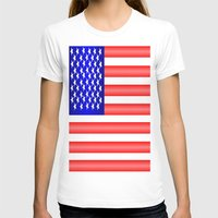 american flag T-shirts featuring American Flag by Justbyjulie