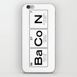 The Chemistry of Bacon, Funny Nerdy Periodic Table iPhone Skin