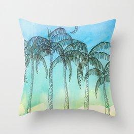 Palm Tree Night lovers Throw Pillow