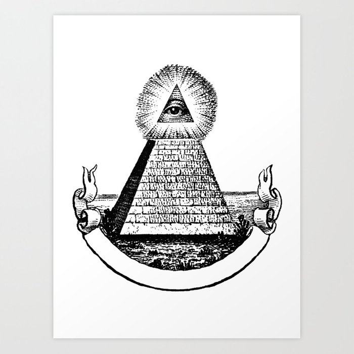 The Eye Of Providence From Great Seal America All Seeing Us Dollar Money