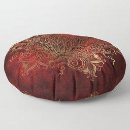 Golden Mandala Floor Pillow