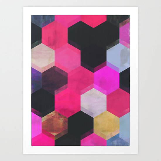 colour + pattern 13 Art Print