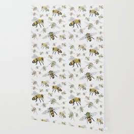 Bees - cute insects Wallpaper