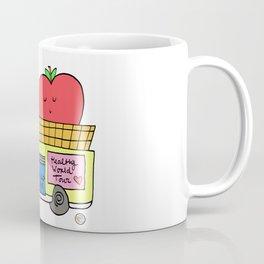 apple foodtruck blonde girl Coffee Mug