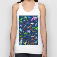 dinosaurs Tank Tops featuring Dinosaurs by Raffaella315