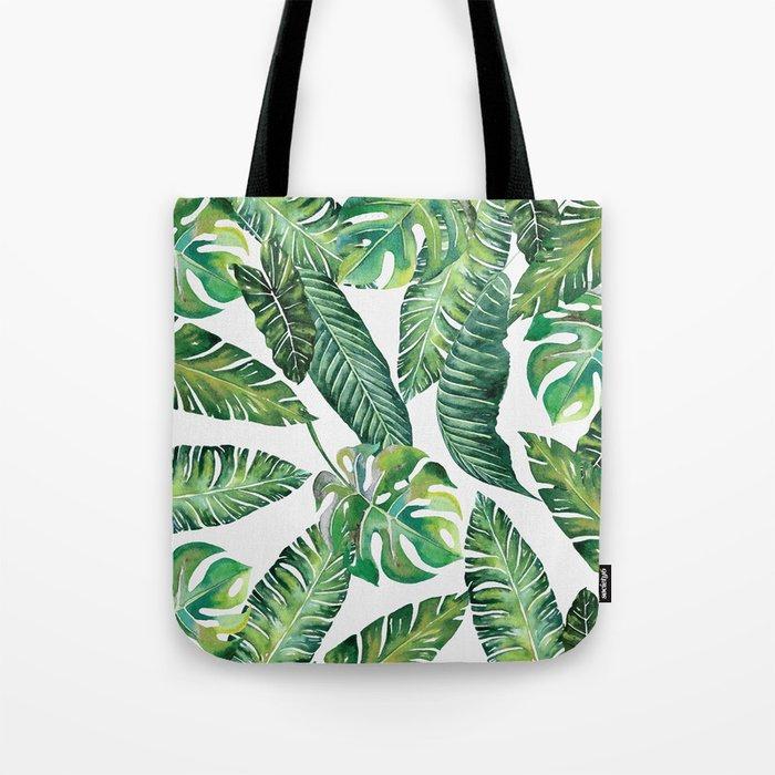 Jungle Leaves, Banana, Monstera #society6 Tote Bag