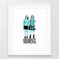 ghost world Framed Art Prints featuring Ghost World by joshuahillustration