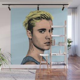 JUSTIN B blue POP ART Wall Mural